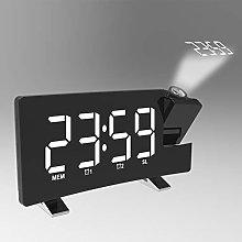 Projection Digital Alarm Clock with FM Radio,180°