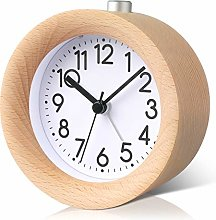PROKING Alarm Clock Wooden Analogue, Battery
