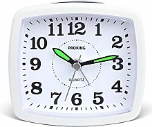 PROKING Silent Non Ticking Travel Analog Alarm