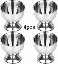 ProLeo 4 Pieces Silver Egg Tray Egg Cup Stainless