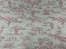 Promenade Balloon Toile Pink/Ivory Cotton 140cm