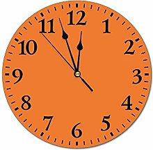 Promini DKISEE Orange Wall Clock Time Clock Non