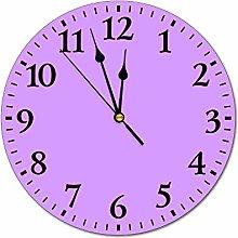 Promini DKISEE Purple Wall Clock Time Clock Non