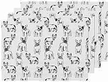 Promini Heat-Resistant Placemats, French Bulldog