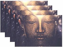 Promini Heat-Resistant Placemats, Great Buddha