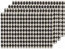 Promini Heat-Resistant Placemats, Harlequin Grunge