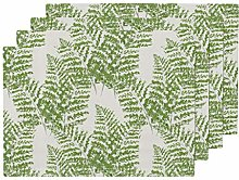 Promini Heat-Resistant Placemats, Painterly Ferns