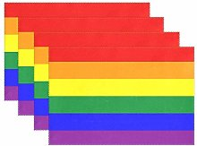 Promini Heat-Resistant Placemats, Rainbow Gay