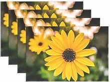 Promini Heat-Resistant Placemats, Sunflower Flower