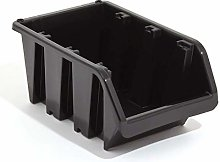 Prosperplast - Plastic Storage Box Bin Black Size