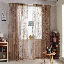 Prosperveil Butterfly Print Sheer Curtains Flock