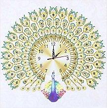 Prosperveil DIY 5D Diamond Painting Peacock Clock