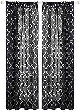 Prosperveil Floral Net Pattern Voile Curtain
