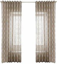 Prosperveil Honeycomb Pattern Voile Curtains