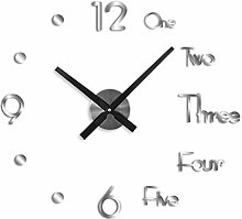 Prosperveil Large Modern 3D Stick on Wall Clock