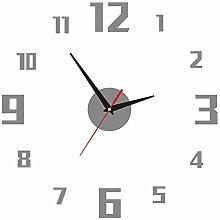 Prosperveil Modern 3D Stick on Wall Clock Arabic