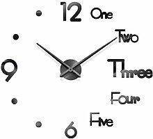 Prosperveil Modern 3D Stick on Wall Clock Letters