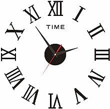 Prosperveil Modern 3D Stick on Wall Clock Roman