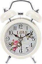 Prosperveil Vintage Bell Alarm Clock Silent No