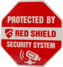 Protected By Red Shield Security System Window