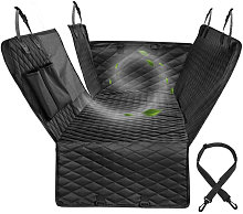 Protective cushion for car rear seat for black dog