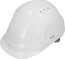 Protective Vented Cap - Safety Helmet White ABS