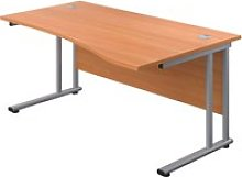 Proteus II Right Hand Wave Desk, 140wx100/80dx73h