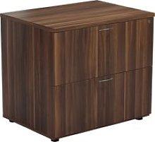 Proteus Side Filing Cabinet, Dark Walnut