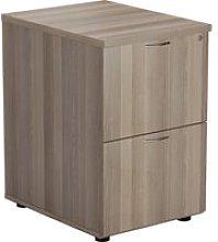 Proteus Wooden Filing Cabinet, Grey Oak