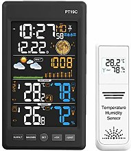 Protmex Weather Station, Wireless Color Forecast