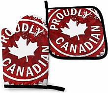 Proud to Be Canadian Funny Oven Mitts and Pot