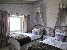 Provencale Toile De Jouy Wallpaper Lilac Lavender