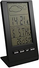 Proxe 725010 Weather Station with Alarm Clock,