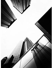 Prunier Downtown Buildings Black White Photo