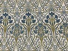 Prussian Blue Deco Jacquard Designer Material