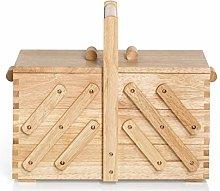 Prym Sewing Basket, Wood, Beige, Brown, Medium