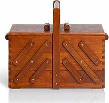 Prym Sewing Basket, Wood, Brown, Medium