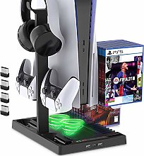 PS5 Cooling Fan, PS5 Cooler, Vertical Stand for PS