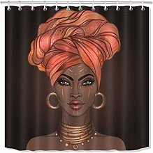 PSB African Make-up Woman Shower Curtain Liner