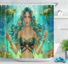 PSB Underwater Mermaid Goddess Sea Turtle Shower