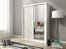 PSK MAYA - 130CM WIDE 2 DOORS MIRRORED BEDROOM