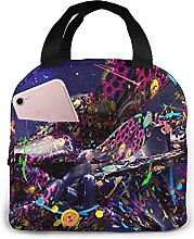 Psychedelic Art Portable Lunch Bag Insulated