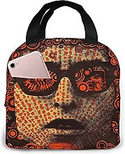 Psychedelic Man Portable Lunch Bag Insulated