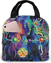 Psychedelic Portable Lunch Bag Insulated Cooler