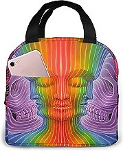 Psychedelic World Portable Lunch Bag Insulated