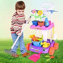 Psycker Kids Garden Tools Toys Set,garden Wagon &