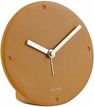 PT Living Alarm Clock Mantel Poly Resin Ochre