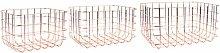 PT Living Basket Set Grid Iron Copper Plated, 28