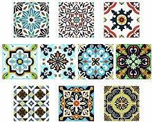 PTN Tile Style Decals, 10Pcs Kitchen Tile