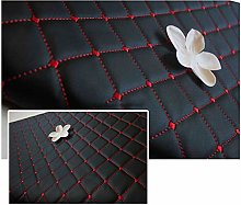 PU Faux Leather Fabric Quilted Leather Stitch
